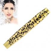 Eye Lashes Makeup Long Curling Eyelash Leopard Design Black Fiber Thick Mascara