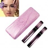 2 Magic Lashes Fiber Mascara Brush Eye Black Long Makeup Eyelash Grower + Box