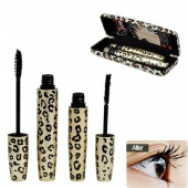 2pcs Magic Leopard Lashes Fiber Mascara Brush Eye Black Long Makeup Eyelash Grower