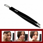 2 in 1 Eyebrow Clip Blackhead Cleaning Rod Stainless Steel Make Up Tool Clamp Tweezers
