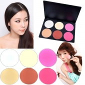 6 Color Makeup Blush Blusher Powder Palette Cosmetic Professional