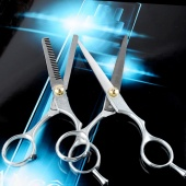 1 Set Hairdressing Hair Cut Scissors Shears Barber Salon Set Thinning Set Cutting +Thinning Shear