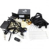 Complete Tattoo Beginner Kit Machine 1 Gun Power Supply Set Equipment