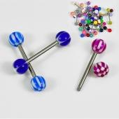 HOT 30 X Assorted Tongue Nipple Bar Ring Barbell Piercing