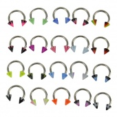 20PCS Mix MultiColor Nose Ring Hoop Studs Rings Stainless Steel Ring
