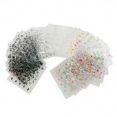 50x 3D Design Tip Nail Art Sticker Decal Manicure Mix Color Flower