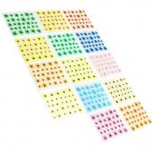 50 Sheet Mix Color Floral Design 3D Nail Art Stickers Decals Nail Art Decoration