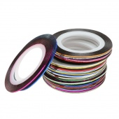 30Pcs Mixed Colors Rolls Striping Tape Line DIY Nail Art Tips Decoration Sticker Nailes Care