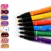 Fashion Nail Art Pen Painting Design Tool 12 Colors to Choose Drawing Gel Made Easy