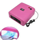 36W UV GEL Nail Curing Lamp Dryer 9W Tube Bulb Light Rose 100-127V with US Plug