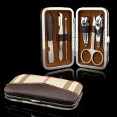 Portable 6-in-1 Stainless Steel Nail Manicure Personal Beauty Set with Case