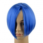 Blue Women Girls Short Straight Cosplay Party Wig Hair Full Wigs