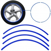 16 Strips Blue Reflective Car Motorcycle Rim Stripe Wheel Tape Decal Stickers