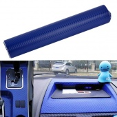 "12"" X 48"" 3D Diagonal Carbon Fiber Vinyl Sheet Film Car Sticker Twill-Weave Blue New"