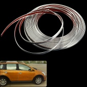 12MM (1.2cm) X 15M DIY Decorative Rib Ribbon Wrap Roll Sticker for Car Auto Decals Silver