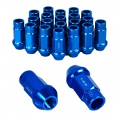 20 X P1.5 50mm Car Automobile Repacking Wheel Anti-theft Security Aluminum Lug Nuts Blue