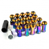 20 X P1.5 Car Automobile Repacking Wheel Anti-theft Security Aluminum Racing/Locking Lug Nuts Colorful