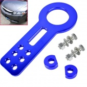 Front Tow Hook Towing Set Anodized Aluminum Blue