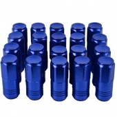 Blue 20 Pcs P1.5 L:52MM Aluminum Wheel Racing Lug Nuts Extended Open End