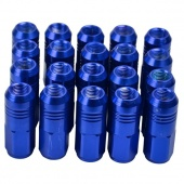 Blue Aluminum Wheel Racing Lug Nuts P:1.25, L:52mm 20pcs/set