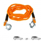 4M Steel Hooks Nylon Poly Braided Portable Emergency Tow Towing Rope 2T Car