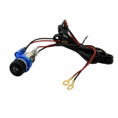 Universal Blue 12V Car Cigarette Lighter with Lamp