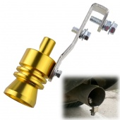 Universal Golden Turbo Sound Exhaust Muffler Pipe Whistle / Fake Blow-off BOV Simulator Whistler Size L