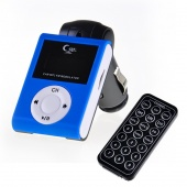 Blue Car MP3 Player Wireless FM Transmitter LCD Remote TF/USB 32G for Iphone 4 Ipod