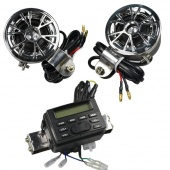 12V Motorcycle/ATV FM Radio And Waterproof Speaker Set with MP3/CD Input Cable