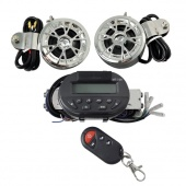 Motorcycle Audio System Handlebar Radio/MP3/Security Stereo Speakers with Remote Controller