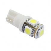 T10 SMD 5-LED Car Side Wedge White Light Bulb Lamp