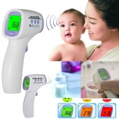 Digital Non-contact Infrared Forehead Body Thermometer with Three-color Backlight