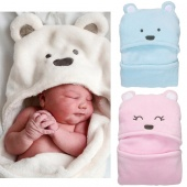 Born Baby Comfortable Sleeping Bag Boy Girl Cartoon Blanket Coral Fleece
