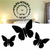 3D Wall Sticker Butterfly Home Decor Room Decorations Stickers Black Small Size