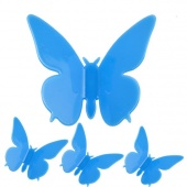 "3""x3"" 3D Wall Sticker Butterfly Home Decor Room Decorations Stickers Blue"