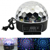 Digital RGB LED Crystal Magic Ball Effect Light Disco DJ Stage Lighting 20W
