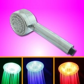 Romantic 3 Colors LED Light Bathroom Shower Head Home