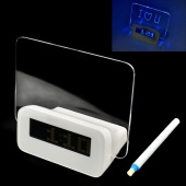 LED Luminous Message Board Digital Alarm Clock with Calendar
