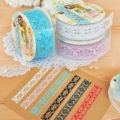 Hollow Decorative Sticker Multi DIY Diary Transparent Lace Tape Stationery