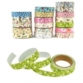 1 Roll Flower Pattern Tape Decorative Sticker Tape Stationery