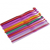 14pcs Multicolour Aluminium Crochet Hooks Needles 2.0 - 10.0mm