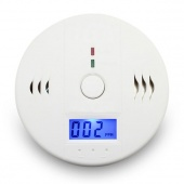 CO Carbon Monoxide Poisoning Smoke Gas Sensor Warning Alarm Detector Tester LCD
