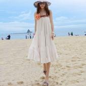 Apricot Lady Bohemian Glassic Style Gored Chiffon Full Skirt