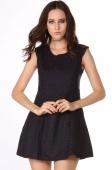 Pretty Academy Style Dot Fabric Jumper Skirt Princess Dress