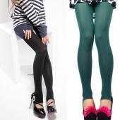 Women's Opaque Pantyhose Stockings Leggings Black Grey Purple Coffee Green