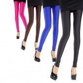 W3LE New Fashion Women Sexy Fluorescent Stretchy Leggings Tight Pants Trousers