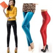 Sexy Womens Skinny Faux Leather High Waist Trousers Tights Leggings Pants