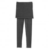 Korea WomeKorea Women's Skirt Leggings Footless Cotton Pleated Tights Stretch Long Pants