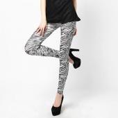 """Fashion Women""""s Sexy Zebra Pattern Pants Seamless Leggings Tights"""