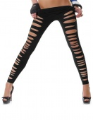 Women Sexy Ripped Torn Slashed Leggings Hose Holes
